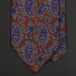 Винтажный галстук PROCHOWNICK с рисунком пейсли в фиолетово-пурпурных и бордовых тонах