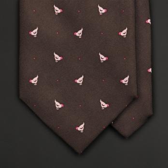 Винтажный галстук с рисунком chickens and grains TEO GRIMALDI