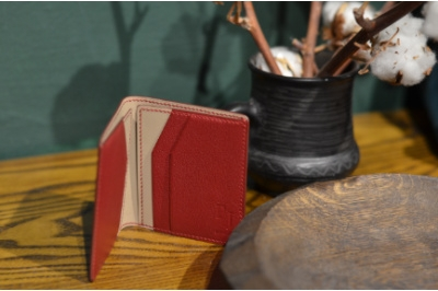 Компактный бумажник PJ Leather из козьей кожи