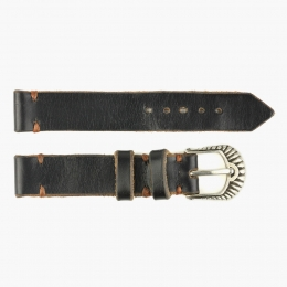 Черный ремешок для часов 1OZ  из кожи Horween в вестерн-стиле 50-х