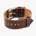 Бордовый (Burgundy) ремешок для часов HOOF из кожи Shell Cordovan
