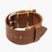 Коричневый ремешок для часов HOOF из кожи Shell Cordovan
