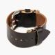 Черный ремешок для часов HOOF из кожи Shell Cordovan