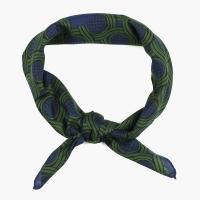 Сине-зеленый шейный платок из хлопка и шёлка FUMAGALLI 1891