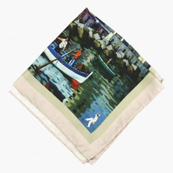 """Шелковый шейный платок """"Венеция"""" SPACCA NEAPOLIS"""