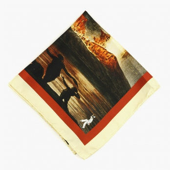 """Шелковый шейный платок """"Извержение Везувия"""" SPACCA NEAPOLIS"""