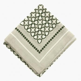 """Мужской шейный платок из хлопка и шелка с орнаментом """"арабеска"""" UMBERTO FORNARI"""