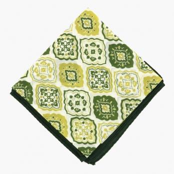 Шейный платок с восточным орнаментом в зеленых тонах UMBERTO FORNARI