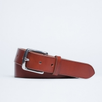 Кожаный ремень со стальной пряжкой FOUR-IN-HAND