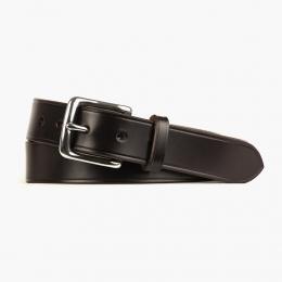 Темно-коричневый кожаный ремень со стальной пряжкой FOUR-IN-HAND Dark Havana