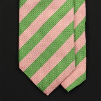 Зелено-розовый галстук из шёлка и хлопка EDDY MONETTI