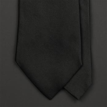 Чёрный галстук из атласного шёлка ULTURALE