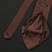 Коричневый галстук из атласного шёлка ULTURALE