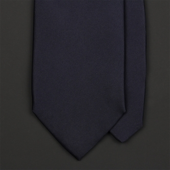Тёмно-синий галстук из атласного шёлка ULTURALE