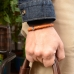 Коричневый кожаный плетеный браслет 1OZ