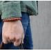 Коричневый кожаный двухцветный плетеный браслет 9 мм 1OZ