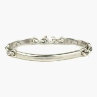 Серебряный браслет-цепь c жесткими вставками 1OZ для FOUR-IN-HAND