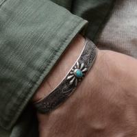 Серебряный браслет с бирюзой 1OZ