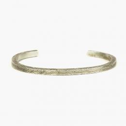 Серебряный браслет с текстурой дерева 1OZ для FOUR-IN-HAND