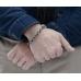 Серебряный мужской браслет в виде якорной цепи 1OZ