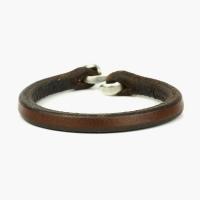 Кожаный полужесткий браслет 1OZ