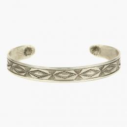 Серебряный браслет с геометрическим орнаментом 1OZ