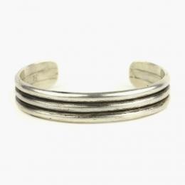 Тройной монолитный серебряный браслет 1OZ