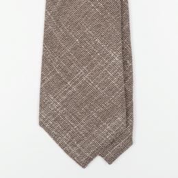 Бежевый галстук UMBERTO FORNARI из шерсти и шёлка