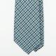 Сине-серо-зеленый шерстяной галстук в клетку гингэм UMBERTO FORNARI