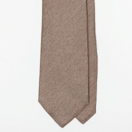 Серо-коричневый шёлковый галстук UMBERTO FORNARI