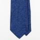Синий меланжевый шёлковый галстук UMBERTO FORNARI