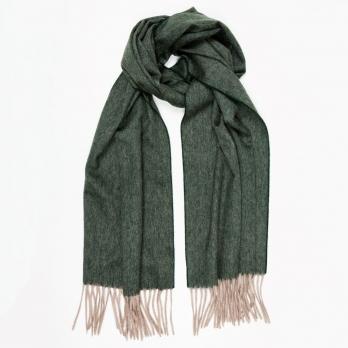 Зеленый кашемировый шарф MA.AL.BI