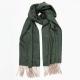 Светло-серо-зеленый кашемировый шарф MA.AL.BI