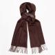 Двусторонний коричневый кашемировый шарф MA.AL.BI
