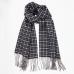 Клетчатый серый кашемировый шарф MA.AL.BI