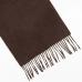 Коричневый кашемировый шарф MA.AL.BI