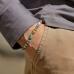 Браслет из разноцветных бусин с металлическими вставками MATEREO