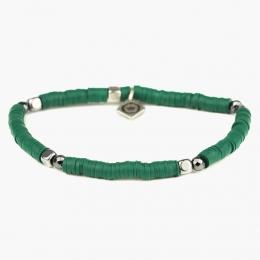 Зеленый браслет MATEREO из полимерной глины