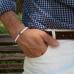 Белый браслет MATEREO из полимерной глины