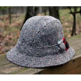 Серая твидовая деревенская шляпа HANNA HATS