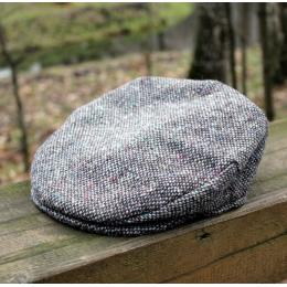 Серая твидовая кепка в винтажном стиле HANNA HATS