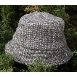 Серая твидовая мягкая шляпа HANNA HATS