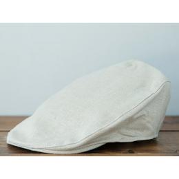 Узкая кепка из некрашеного льна HANNA HATS