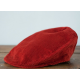 Красная узкая вельветовая кепка HANNA HATS