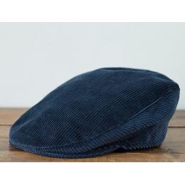 Синяя узкая вельветовая кепка HANNA HATS