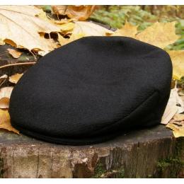 Черная твидовая кепка в винтажном стиле HANNA HATS