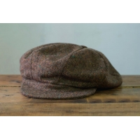 Brown Tweed 8-piece Cap with Band HANNA HATS