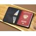 Черная обложка для паспорта с двумя отделениями для карточек FRIDAY GOODS