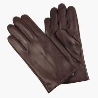 Бордовые перчатки из овчины с шерстяной подкладкой АКЦЕНТ