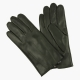 Зеленые перчатки из овчины с шерстяной подкладкой АКЦЕНТ